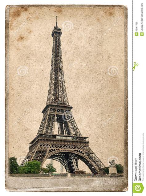 imagenes retro de la torre eiffel vintage style postcard concept with eiffel tower paris