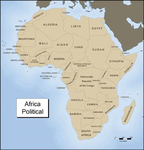 map of africa with country name module twenty two activity one exploring africa