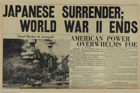 End Of 1 when did world war 2 end world war 2 facts