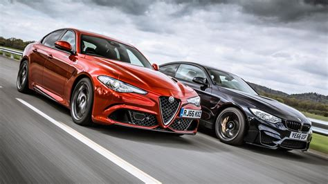 alfa romeo giulia vs bmw m4 competition top gear