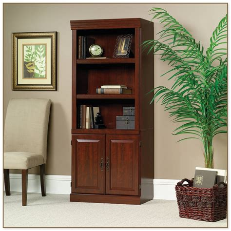 sauder harbor view bookcase with doors antique white sauder harbor view bookcase with doors antique white
