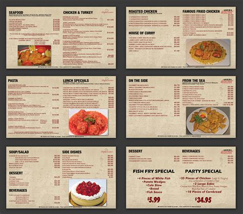 menu design graphic chef luciano gourmet chicken menu screens nashville