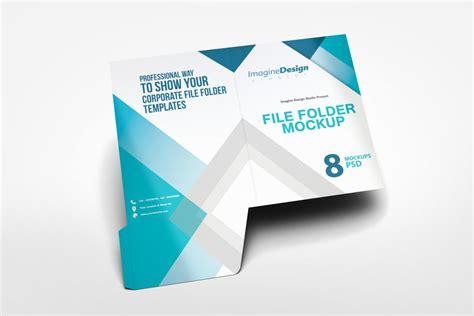 File Folder Mockup By Idesignstudio Net File Folder Design Template