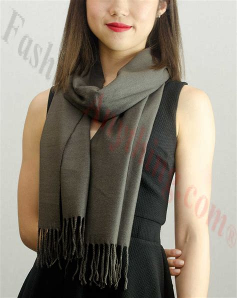 solid feel scarf charcoal