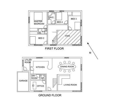 layout of house layout baltasound development