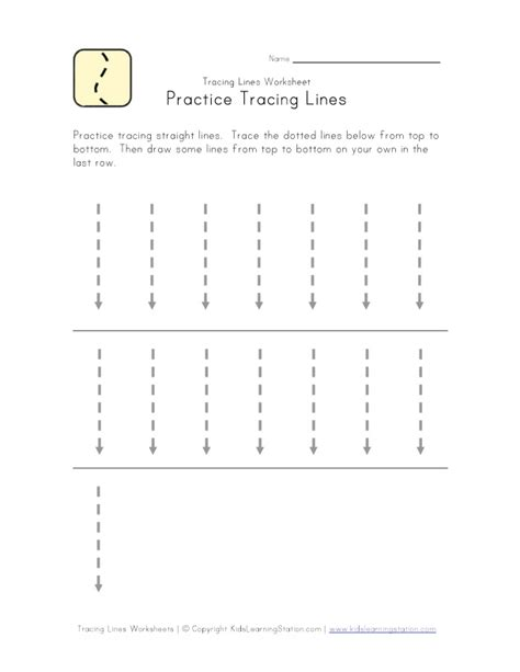 Lines Tracing Worksheets