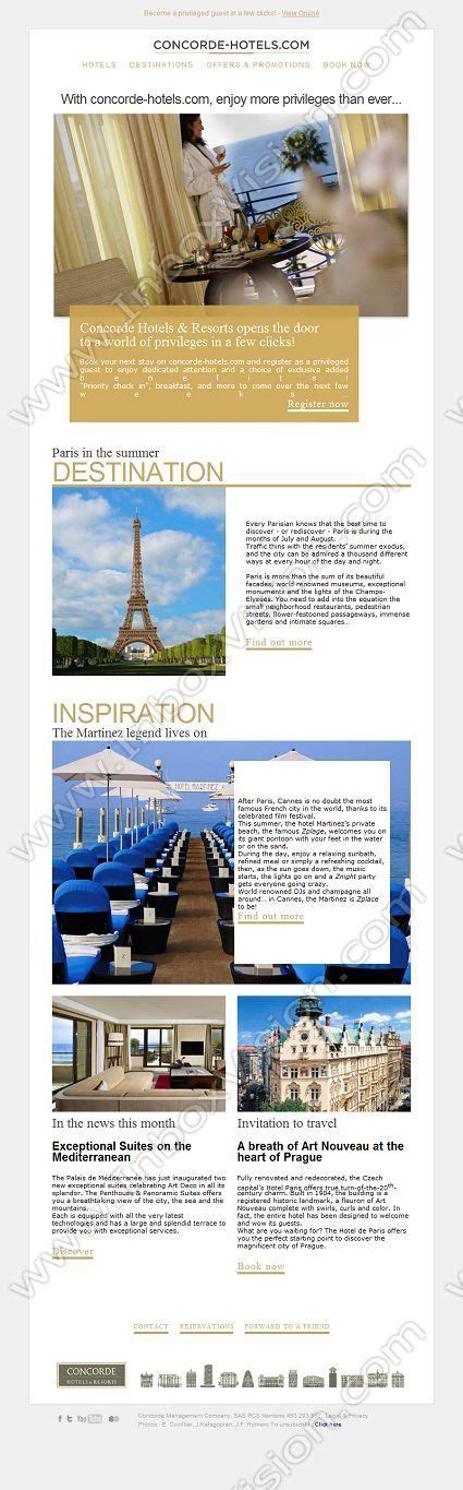 hotel newsletter layout 16 best images about hotel spa email newsletters on