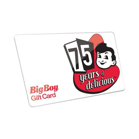 Big Boy Gift Card - 50 gift card big boy restaurants