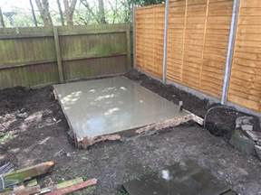 concrete shed base blackpool lees solutions