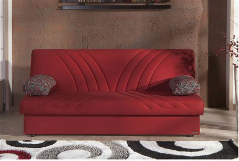 max sofa bed max naturale red convertible sofa bed by sunset