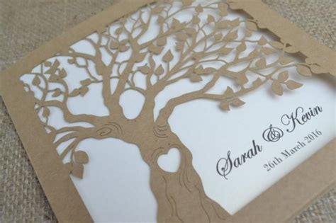 Laser Print Wedding Invitations by Laser Cut Invitation Rustic Wedding Invitation Laser Cut