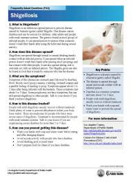 Department Of Public Health Acute Communicable Disease