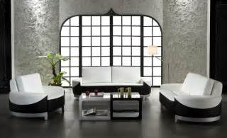 White Livingroom Furniture by White Bedroom With Black Sofa And White Cushions In