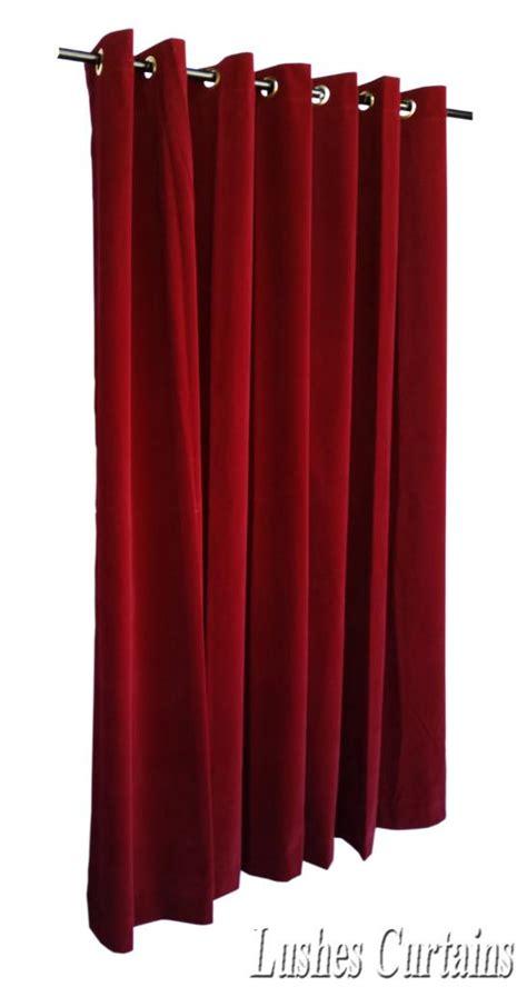 curtains 72 long burgundy 72 quot long velvet curtain panel w metal grommet top