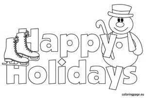 happy holidays coloring pages happy holidays images coloring page