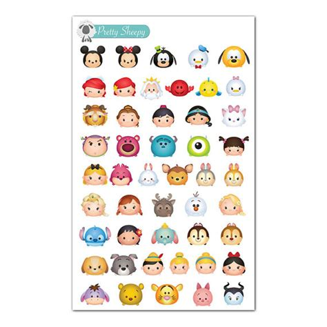 printable stickers disney tsum tsums stickers mini disney planner stickers