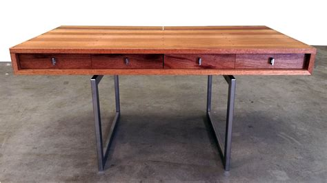 mahogany desk custom mid century modern mahogany desk by object a