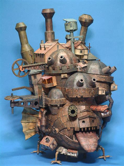 Howls Moving Castle Papercraft - howl s moving castle papercraft entertainingmadness
