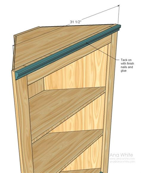 Corner Bookcase Plans Free White Build A Corner Cupboard Free And Easy Diy Project And Furniture Plans Muebles