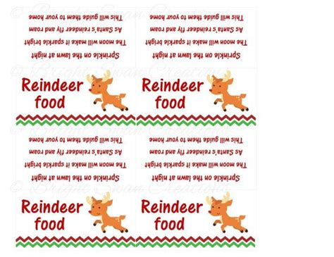 printable magic reindeer poem 6 best images of printable reindeer food saying magic