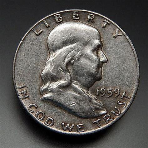 composition of dollar coin 1959 us mint collectible franklin half dollar coin coins