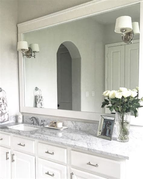 Trim Bathroom Mirror Classic Style Home Diy Bathroom Mirror Trim
