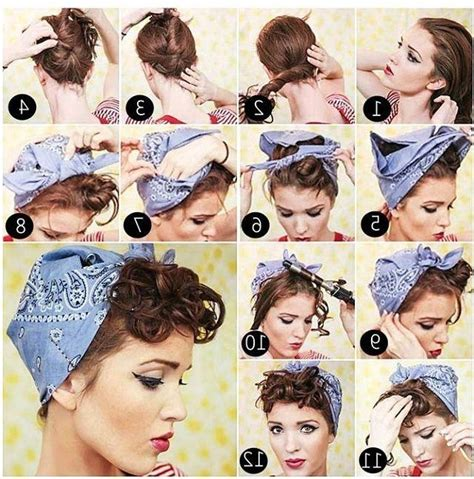 Pin Up Hairstyles With Bandana by Pin Up Hairstyles For Hair With Bandana Hairstyles