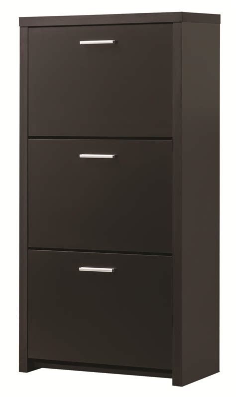accent cabinets coaster accent cabinets 900604 tall 3 drawer shoe cabinet dunk bright furniture accent chests
