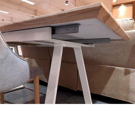 mesa de comedor blanca  madera color roble moderna extensible derbe muebles