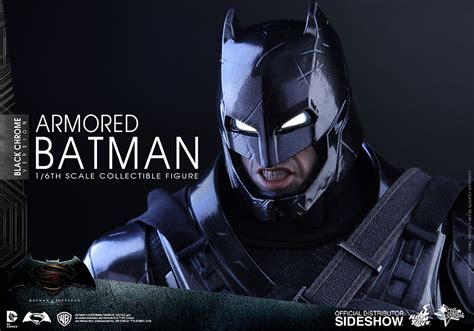 Toys Batman Vs Superman Armored Batman dc comics armored batman black chrome version sixth scale fi sideshow collectibles