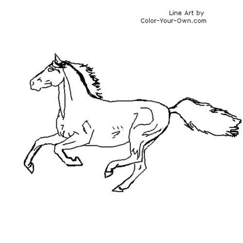coloring page galloping horse horse arabian galloping coloring page