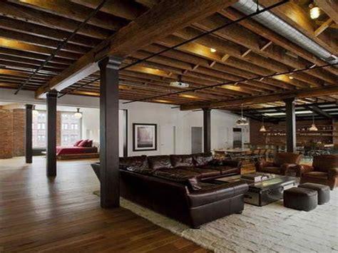 rustic finished basement basement popular basement ceiling options with rustic