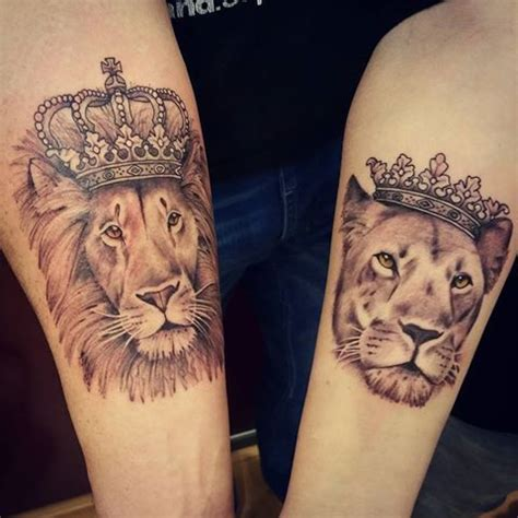 lion couple tattoos best 25 lioness ideas on