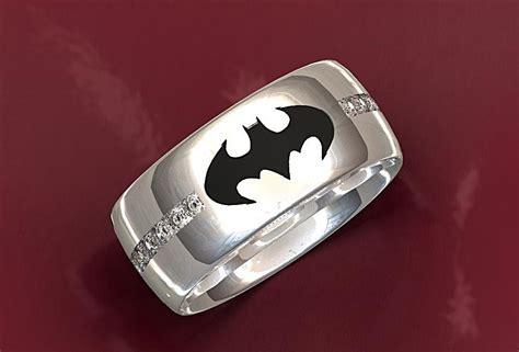 handmade batman wedding ring by valeria jewelry