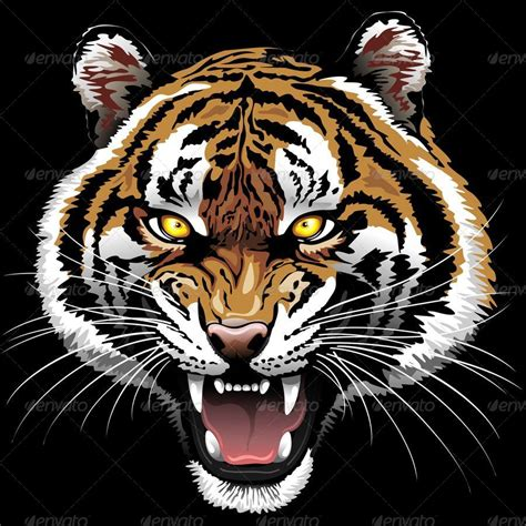 the tiger roar by bluedarkat graphicriver