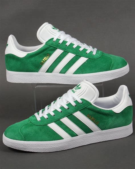 green adidas shoes adidas gazelle trainers green white originals shoes mens