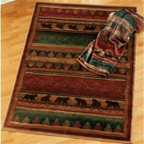 Rustic Cabin Area Rugs Delectably Yours Bearwalk Rug Collection By United Weavers Genesis
