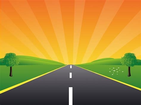 Road To The Peace For Powerpoint Template Backgrounds Nature Powerpoint Travel Templates Microsoft Powerpoint Templates Road