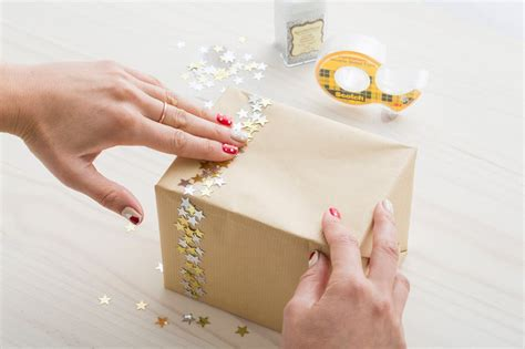 wrap gifts make confetti and glitter gift wrap with sided