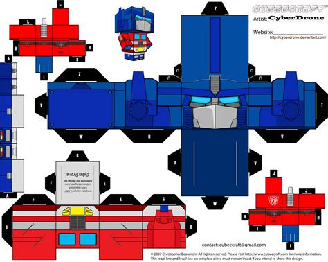 Papercraft Transformers Optimus Prime - transformer papercraft templates papercraft