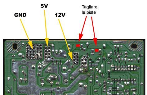 modificare alimentatore pc switching power supply atx 13 8v semplici modifiche per