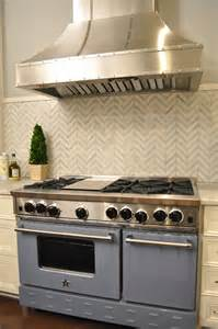 chevron tile backsplash kitchen