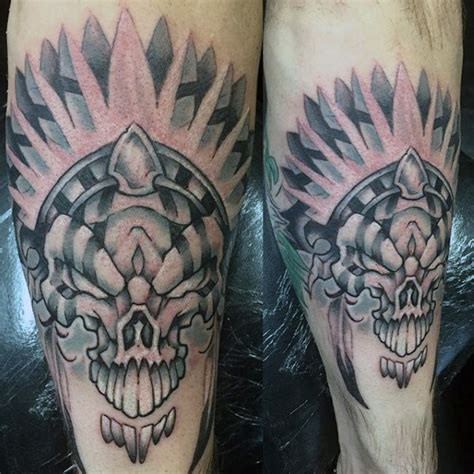 black and grey indian tattoos 80 indian skull tattoo designs for men cool ink ideas