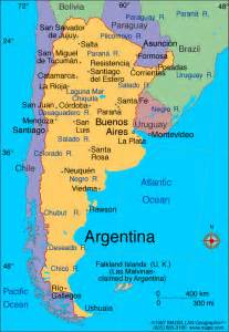 argentina in south america map atlas argentina