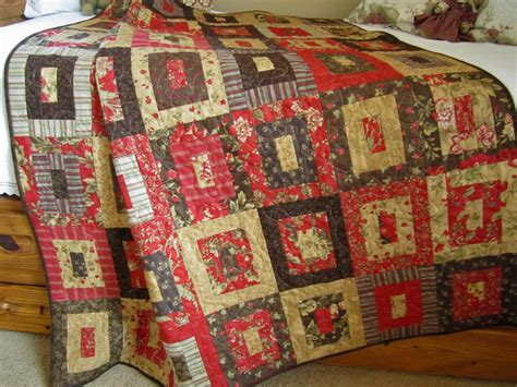 handmade patchwork quilt brown and on luulla