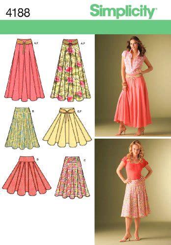Basic Umbrella Maxi simplicity sewing pattern 4188 misses skirts u5 16 18 20
