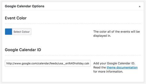 google calendar layout options google calendar wplook documentation