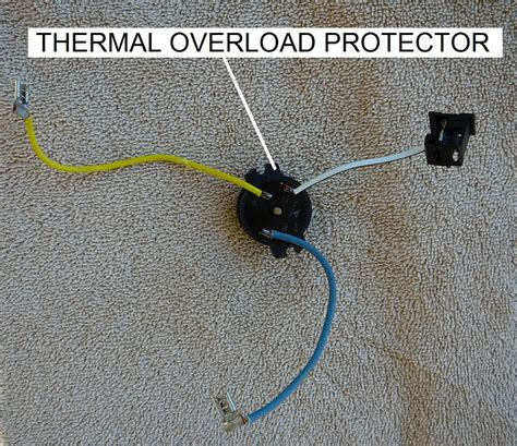how to replace the thermal protector on an ao