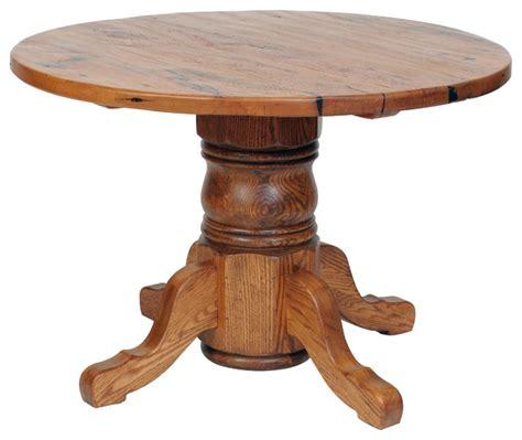 Antique Oak Pedestal Dining Table Traditional Dc Metro Antique Oak Pedestal Dining Table