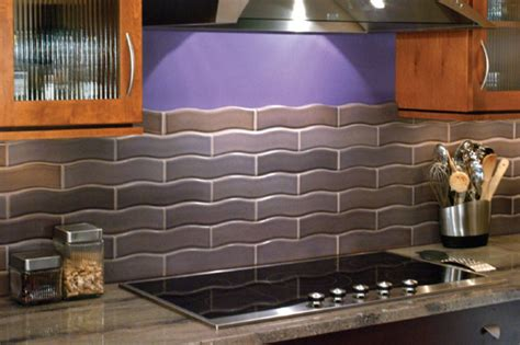 wavy backsplash ceramic backsplash pictures and design ideas